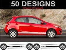 Mazda 2 Seitliche Streifen Grafik Sticker 2 Stk.