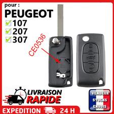 Coque clé pour Peugeot 107 207 307 308 SW 407 807 Partner 3 bouton Coffre CE0536