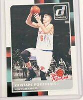 Donruss Panini Kristaps Porzingis The Rookies Card # 32 New York Knicks Forward