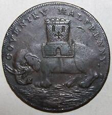 Coventry Halfpenny 1793 - Pro Bono Publico Lady Godiva Elephant - Edge Engraved