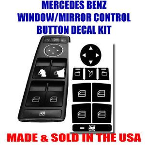 MERCEDES BENZ WINDOW BUTTON DECALS STICKERS W204 C250 C300 C350 US 2018