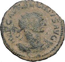 AURELIAN receiving wreath from woman  275AD Rare Ancient Roman Coin i47023