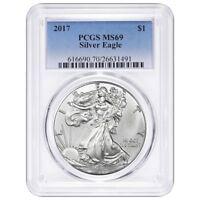 2017 1oz Silver Eagle PCGS MS69 - Blue Label