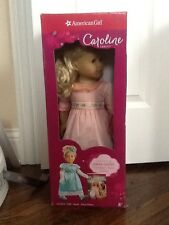 Rare Retired American Girl Caroline Doll, Book & Extra Party Gown Set- Brand New