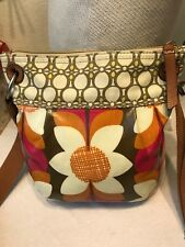 Fossil multicolored Daisy coated canvas crossbody