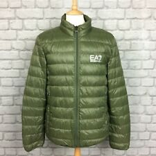 EA7 EMPORIO ARMANI MENS UK L KHAKI TRAIN CORE ID DOWN LIGHT JACKET RRP £145