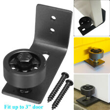 Black Bottom Floor Guide Stay Rollers Adjustable for Sliding Barn Door Hardware