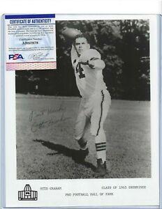 Otto Graham Autographed Cleveland Browns Football HOFer 8x10 Photo PSA COA