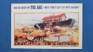 Bamforth Advanced Series Comic Postcard 1920s Noahs Ark Pleasure Beach Blackpool