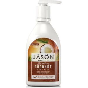 Jason Smoothing Coconut Body Wash in Pump Bottle Vegan Vegetarian Organic 887ml