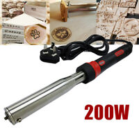 Portable 200W Iron Stamping Tool Brass stamp Leather Seal Heat Embosser Wood