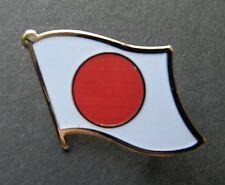 JAPAN JAPANESE SINGLE FLAG LAPEL PIN BADGE 3/4 INCH