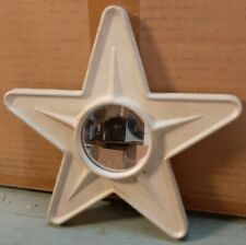 Country Primitive Farmhouse Cream Colored Tin Metal Star Mirror