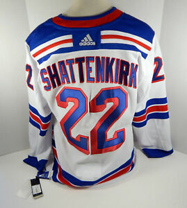 Mens New York Rangers Kevin Shattenkirk #22 Authentic Adidas White Jersey M 50