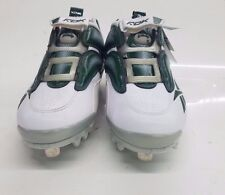 RARE RBK Reebok Men's Baseball Cleats The Pump Mania Low, 10 M (white/green)