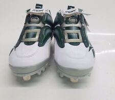 RARE RBK Reebok Men's Baseball Cleats The Pump Mania Low, 10.5 M (white/green)