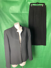 NEW Amanda Smith Women's Size 14 Black Suit Career Wear.