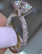 3.30 Ct H-I Round Cut Moissanite Solitaire Engagement Ring .14 k gold Ring