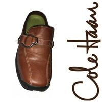 Women's Cole Haan NikeAir Brown Leather Mules Clogs 7B Slip On Moc Toe Shoes
