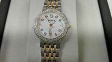 NEW Bulova Women's 98R211 Quartz Diamond Dial and Markers Two Tone Watch 1066