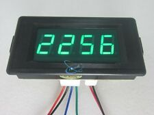 DC 24/12V 4 Digital Green LED Counter Panel Meter 5-28V Plus and Minus 0-9999