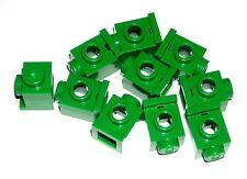 LEGO 10 Green Bricks Modified 1 x 1 with Car Headlights 60081