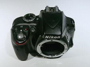 Nikon D3300 24.2MP Digital SLR Camera Black Body Only DSLR Compact Travel 24MP