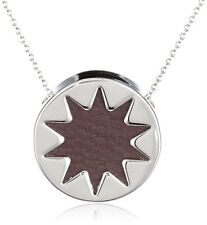 House Of Harlow 1960 Women's Leather Brown Mini Sunburst Necklace 0218