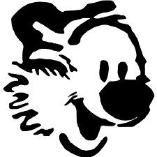 "Calvin Hobbes Decal Vinyl Sticker Truck Laptop Car Window 4"" HOLOGRAPHIC COLOR!"