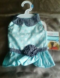 Martha Stewart Pets XS Light Blue and Denim Dress