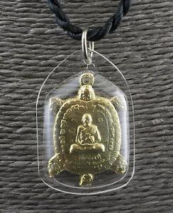 Halskette Amulett Thai Schildkröte Tao Ruean LP Liew- Anhänger Talisman 1692