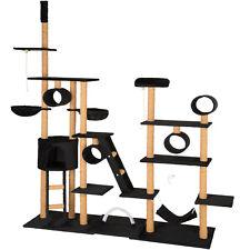 XXL Arbre à chat griffoir grattoir jouet à jeux meuble du sol au plafond noir
