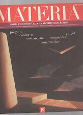materia rivista di architettura numero 19 -  2° quadrimestre 1993