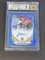2014 Bowman Chrome Blue /150 SGC 9/10 Jeff McNeil Autograph RC Auto Rookie PSA