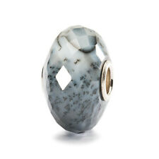 Trollbeads 'Agate Dentritic' sterling silver natural stone bead Genuine RRP £47