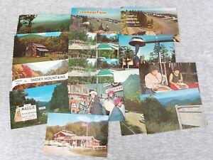 Vintage Lot Of 14 Photo Print Postcard Great Smokies North Carolina