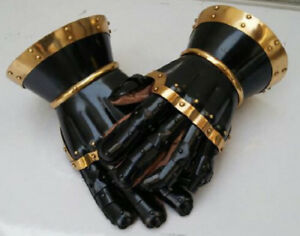 Medieval Steel Gothic Gauntlet Gloves New Antique Armour Functional