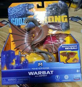 "Playmates Toys Monsterverse Warbat Action Figure 6"" Rare Godzilla vs Kong 2021"