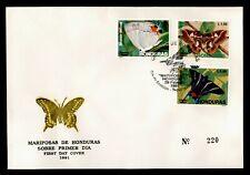 Dr Who 1991 Honduras Fdc Butterflies C238011