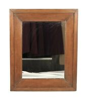 Antique Victorian 19th Wood Empire Ogee Picture Frame Mirror Fits 12x9