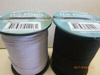 2 mm Black White Hat Elastic 10 - 20 metres Stretch Cord Bridal Millinery Hair