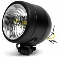 "4.25"" Mini Headlight w/High and Low Beam + Fog Lights LED Bulb Black Housing"
