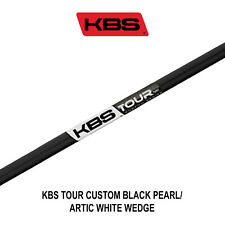 KBS TOUR CUSTOM BLACK PEARL/ARTIC WHITE WEDGE SHAFTS - R / S / X FLEX