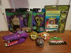 Vintage Lot of RL Stine's Goosebumps Office Supplies and Toys