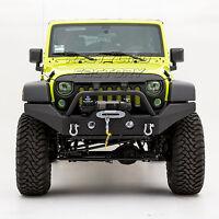 Full Width Front Bumper W/OE Fog Light Hole Black fit 07-18 Jeep JK Wrangler
