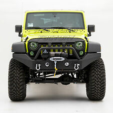 Full Width Front Bumper W/OE Fog Light Hole Black fit 07-17 Jeep JK Wrangler