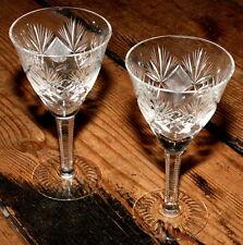 SET 2 Aperitifgläser transparent Lausitzer Bleiglas Bleikristall Bleiglasgläser