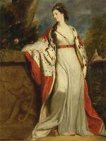 JOSHUA REYNOLDS ELIZABETH GUNNING DUCHESS HAMILTON ARGYLL OLD ART PRINT 1713OMA