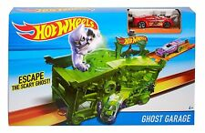 Hot Wheels Ghost Garage Playset Red Race Car Included NEW