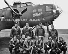 WW2 B-17 Bomber Madame Betterfly Crew 8x10 Nose Art Photo 305th BG Chelveston